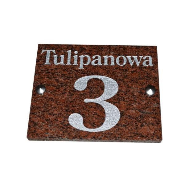 granitowa tabliczka adresowa